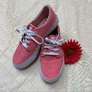 DC Womens Pink Slip On Runners Size 6.5